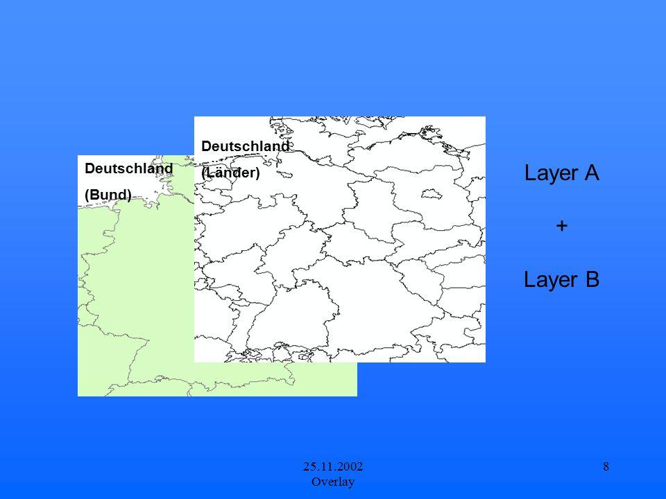 25.11.2002 Overlay 8 Layer A + Layer B Deutschland (Bund) Deutschland (Länder)