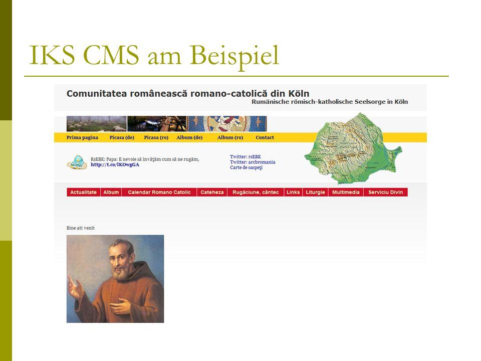 IKS CMS am Beispiel