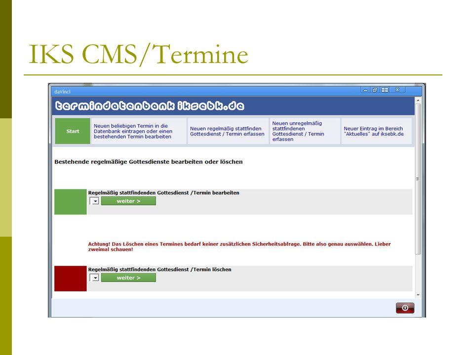 IKS CMS/Termine