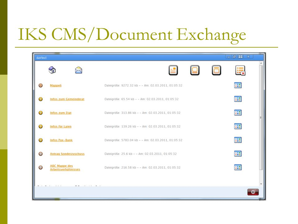 IKS CMS/Document Exchange
