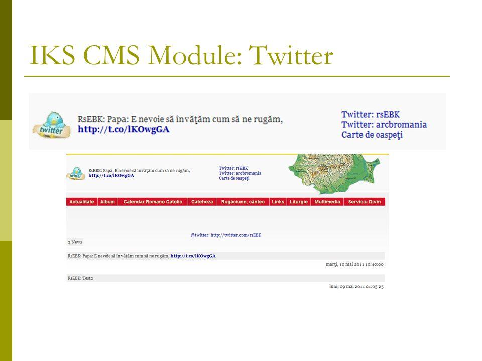 IKS CMS Module: Twitter