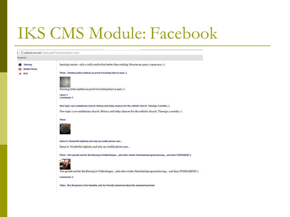 IKS CMS Module: Facebook