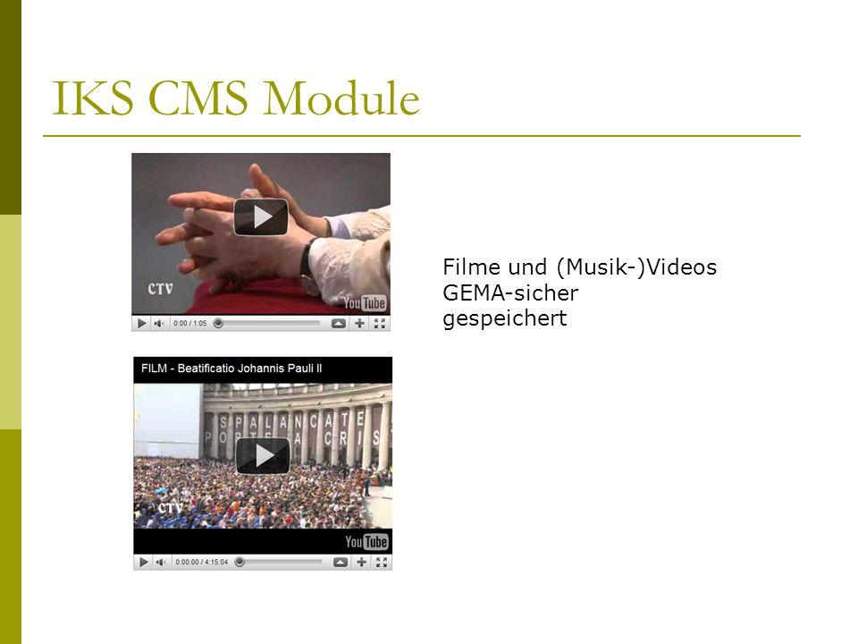 Filme und (Musik-)Videos GEMA-sicher gespeichert