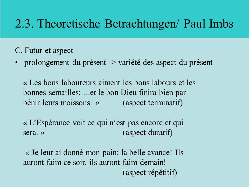 2.3.Theoretische Betrachtungen/ Paul Imbs C.