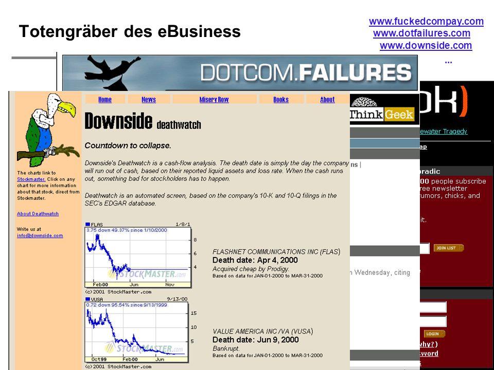  H. Österle / Seite 6 IWI-HSG Totengräber des eBusiness www.fuckedcompay.com www.dotfailures.com www.downside.com...