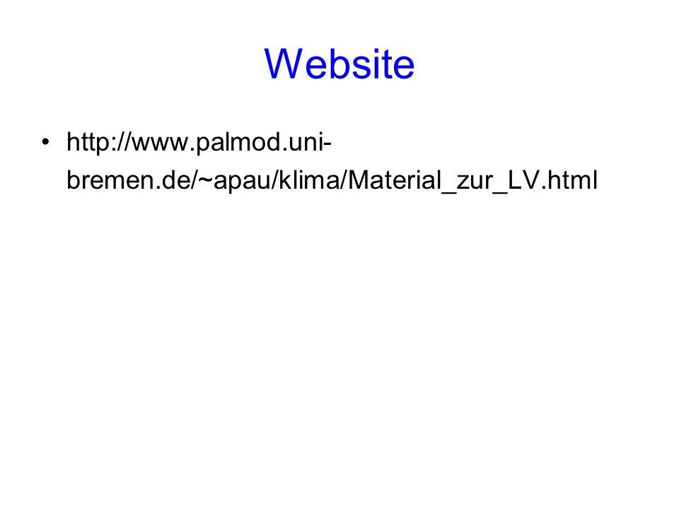 Website http://www.palmod.uni- bremen.de/~apau/klima/Material_zur_LV.html