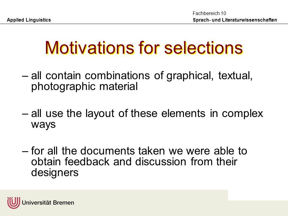 Applied Linguistics Sprach- und Literaturwissenschaften Fachbereich 10 Web-based newspapers