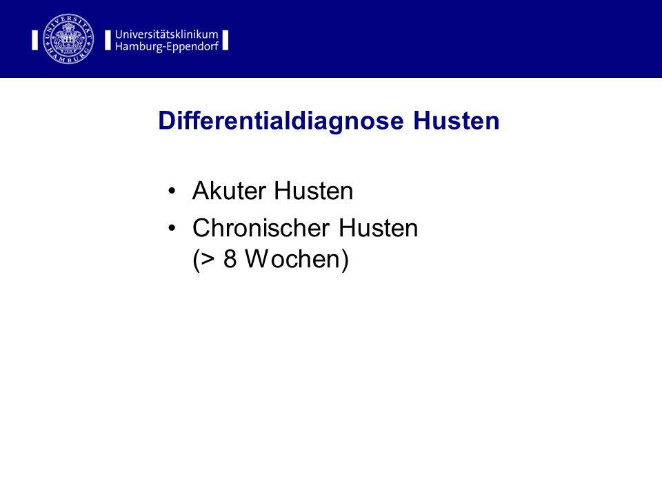Differentialdiagnose Husten Akuter Husten Chronischer Husten (> 8 Wochen)