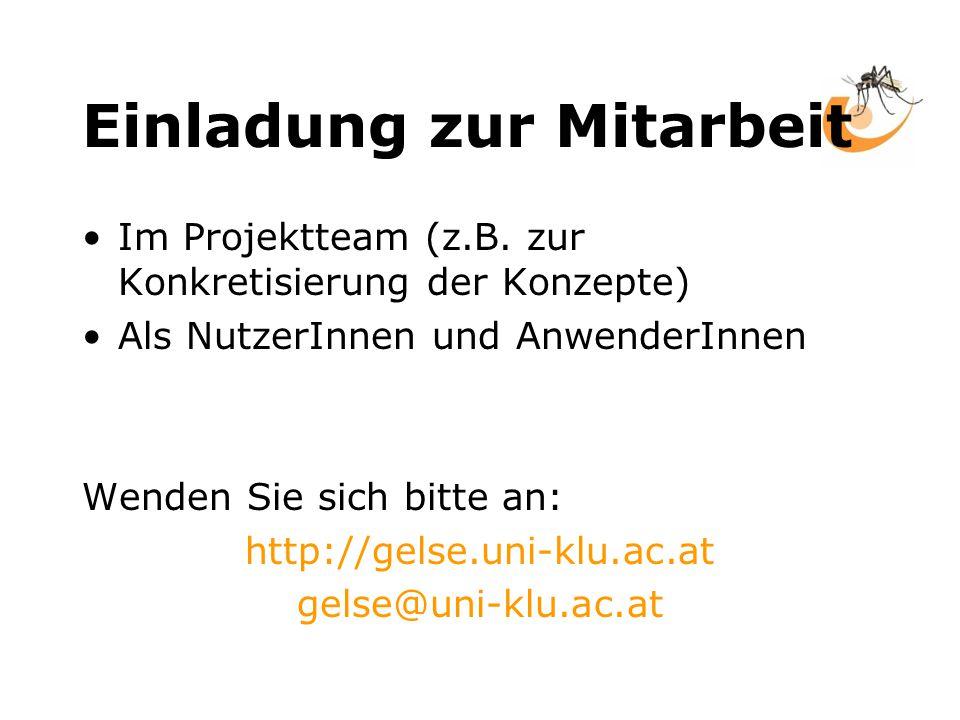 Einladung zur Mitarbeit Im Projektteam (z.B.