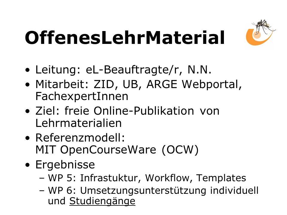 OffenesLehrMaterial Leitung: eL-Beauftragte/r, N.N.