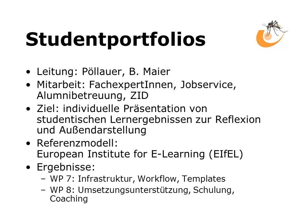 Studentportfolios Leitung: Pöllauer, B.