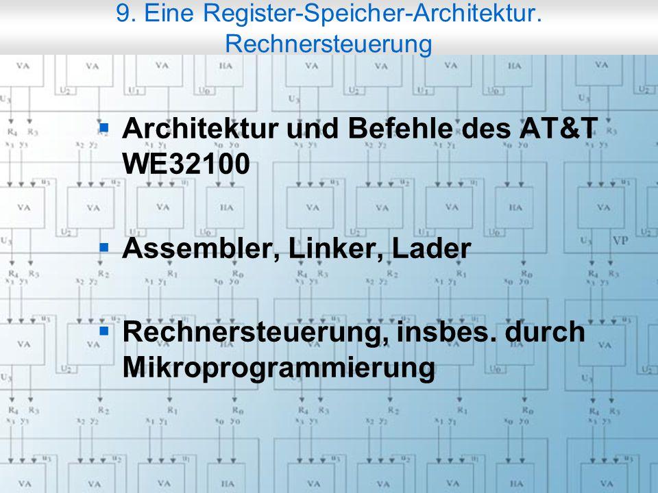 Rechneraufbau & Rechnerstrukturen, Folie 9.2 © W. Oberschelp, G.