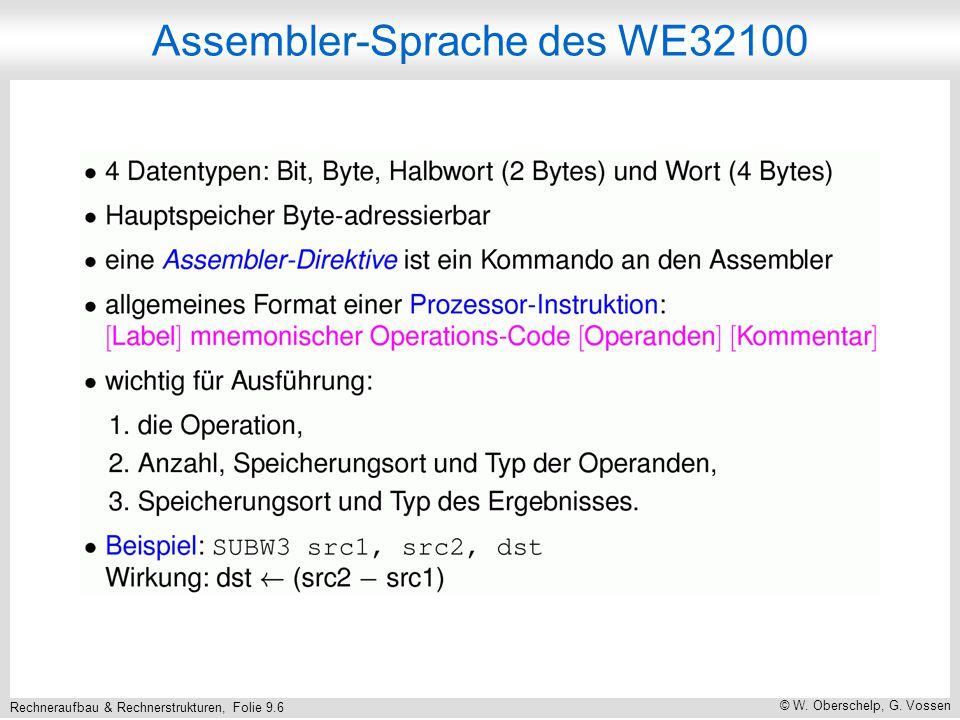 Rechneraufbau & Rechnerstrukturen, Folie 9.6 © W. Oberschelp, G.