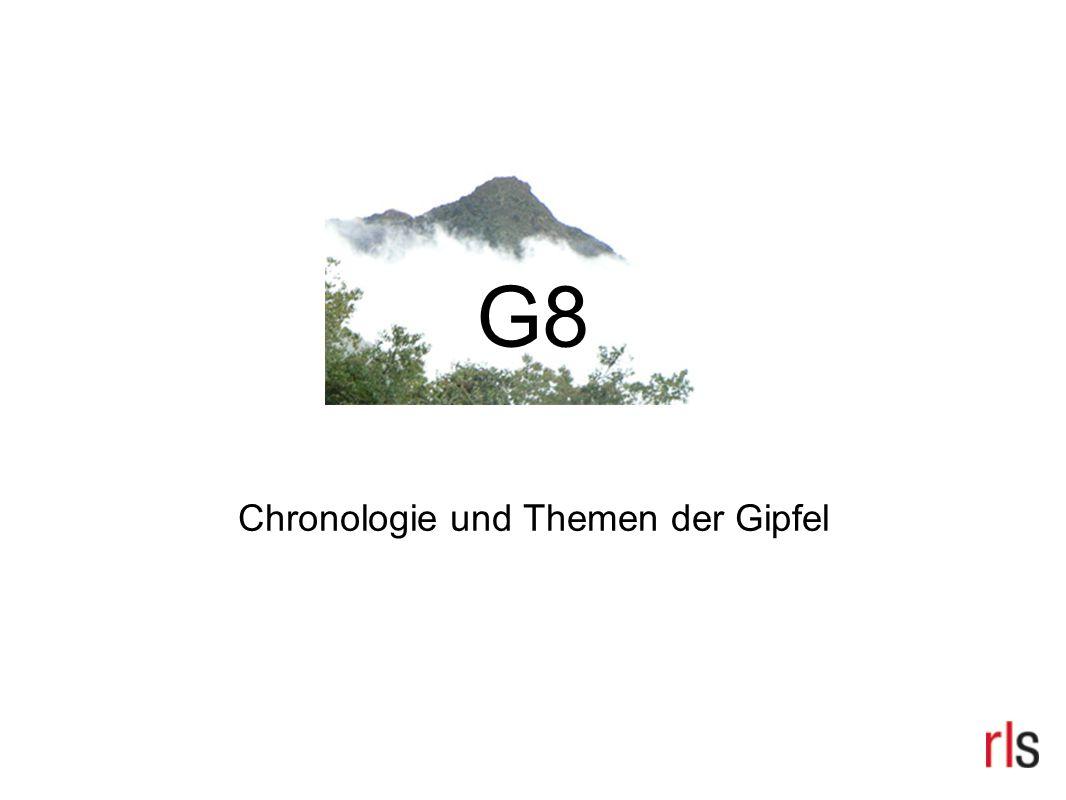 G8 Chronologie und Themen der Gipfel