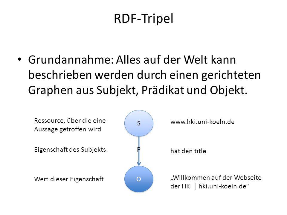 "RDF-Tripel www.hki.uni-koeln.de ""Willkommen auf der Webseite der HKI | hki.uni- koeln.de http://purl.org/dc/elements/1.1/title ""Uni Koeln http://purl.org/dc/elements/1.1/publisher"