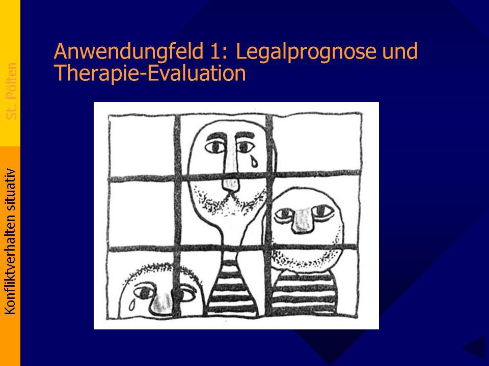 Konfliktverhalten situativ St. Pölten Anwendungfeld 1: Legalprognose und Therapie-Evaluation