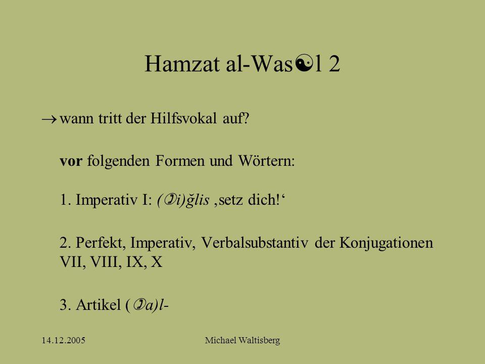 14.12.2005Michael Waltisberg Hamzat al-Was  l 3 4.