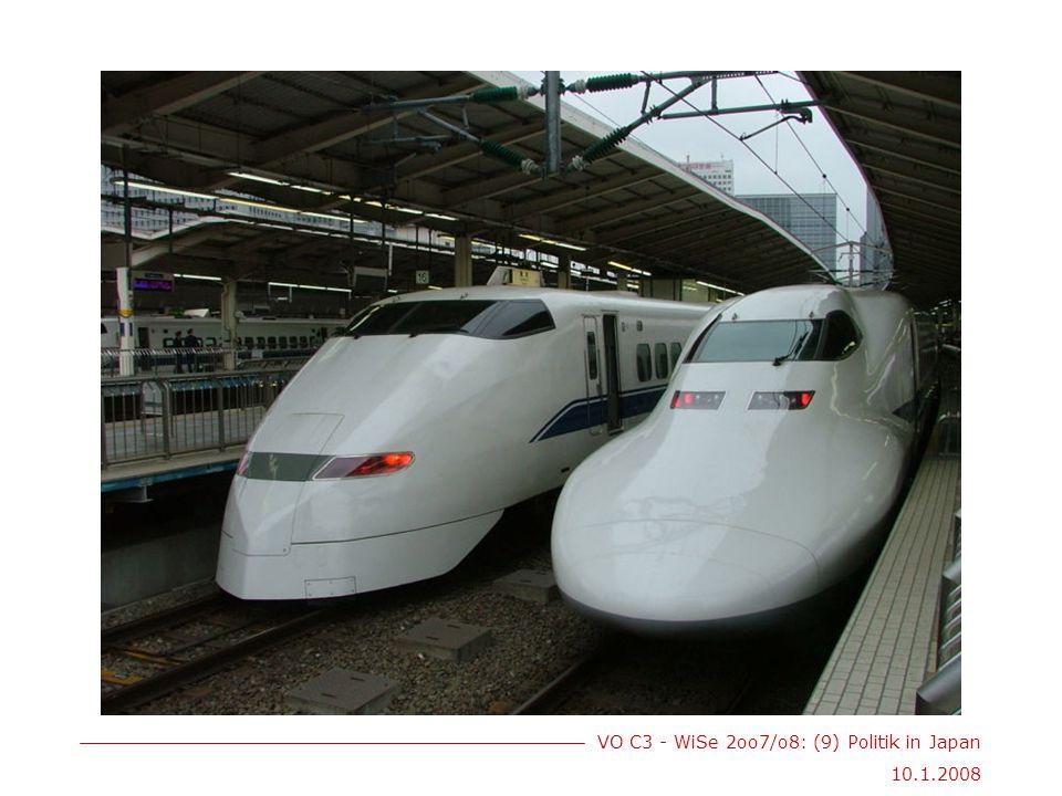 VO C3 - WiSe 2oo7/o8: (9) Politik in Japan 10.1.2008 Geschichte I 17.