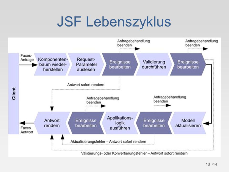 16 /14 JSF Lebenszyklus