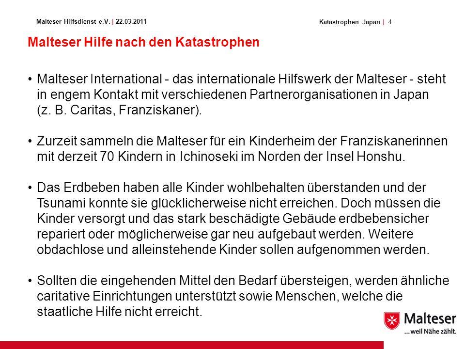 4Katastrophen Japan | Malteser Hilfsdienst e.V.
