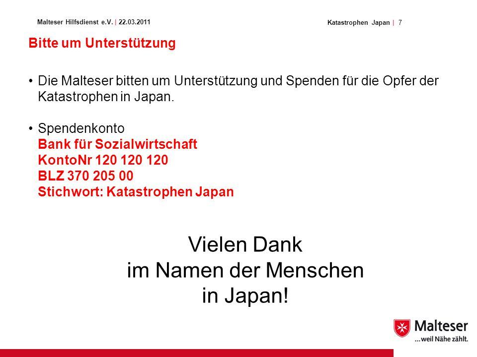 7Katastrophen Japan | Malteser Hilfsdienst e.V.