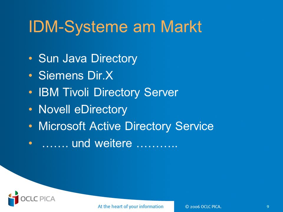 20 Architektur des IDM-Connectors LBS3/4SunRiseLDAP Others LDAPLBS3/4 IDM Database IDM Task Manager Controller IDM- Task- Manager read IDM- Task- Manager write IDM Connector Administration Admin Interface Authentication writer reader writer SunRise