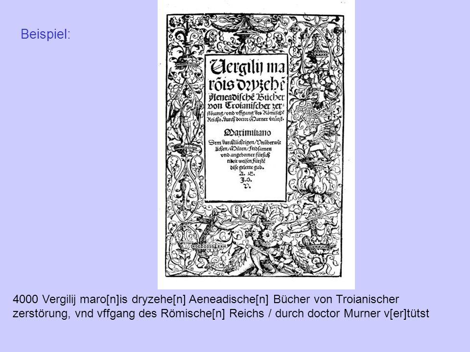 4000 Vergilij maro[n]is dryzehe[n] Aeneadische[n] Bücher von Troianischer zerstörung, vnd vffgang des Römische[n] Reichs / durch doctor Murner v[er]tü