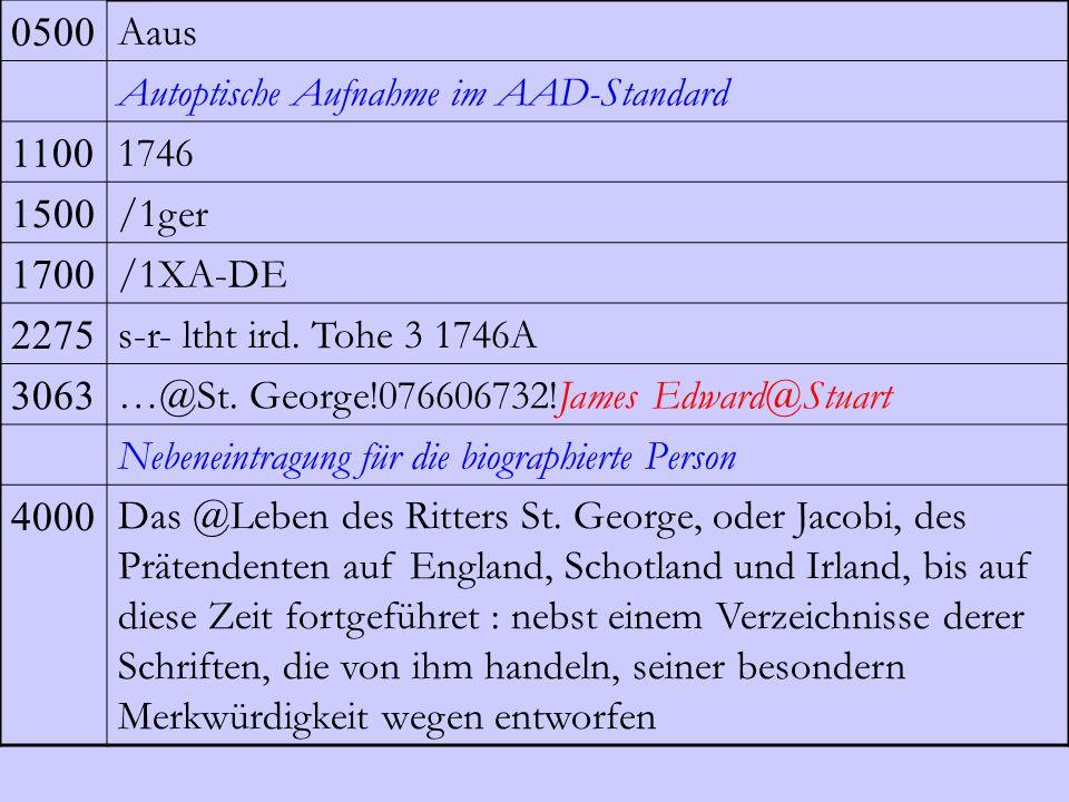 0500 Aaus Autoptische Aufnahme im AAD-Standard 1100 1746 1500 /1ger 1700 /1XA-DE 2275 s-r- ltht ird. Tohe 3 1746A 3063 …@St. George!076606732!James Ed