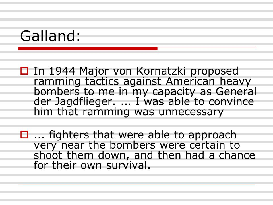 Did Rammjäger ever really exist.  Adolf Galland Jägerblatt, Vol.