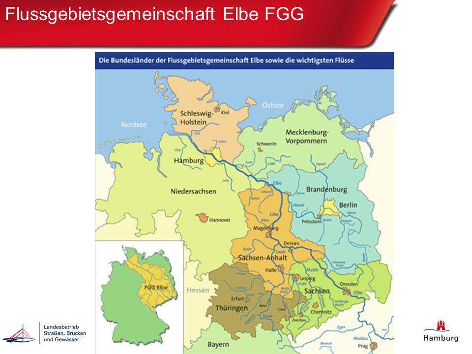 Koordinierungsräume der FGE Elbe