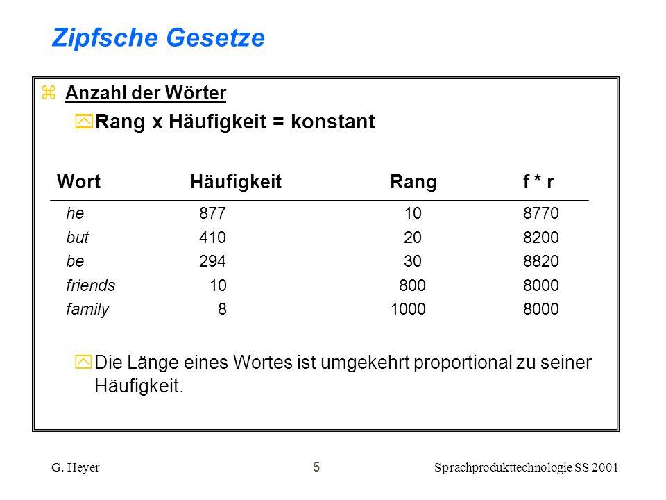 Sprachprodukttechnologie SS 2001G.