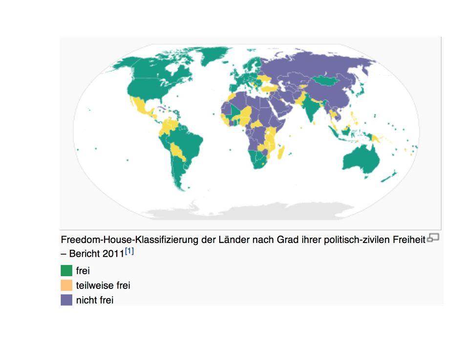 Democracy Index Von der britischen Economist Intelligence Unit Bisher zweimal erschienen 2006/2008 Bezieht sich auf Freedom House