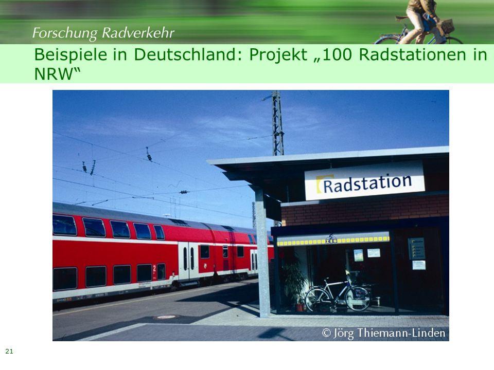 """21 Beispiele in Deutschland: Projekt """"100 Radstationen in NRW"""