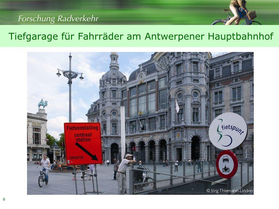 6 Tiefgarage für Fahrräder am Antwerpener Hauptbahnhof