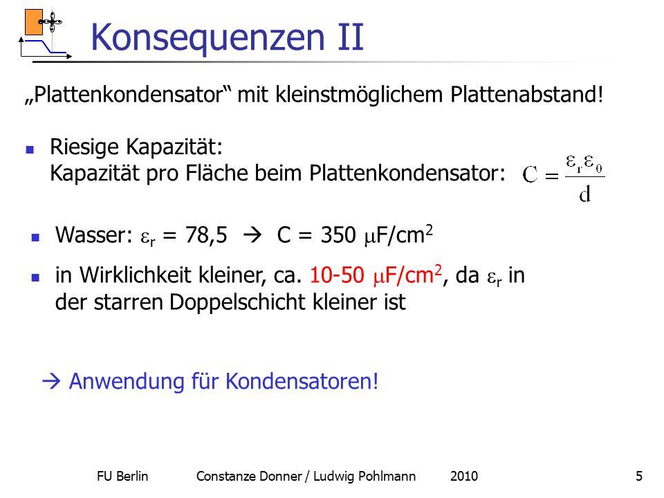 """FU Berlin Constanze Donner / Ludwig Pohlmann 20105 Konsequenzen II """"Plattenkondensator"""" mit kleinstmöglichem Plattenabstand! Riesige Kapazität: Kapazi"""