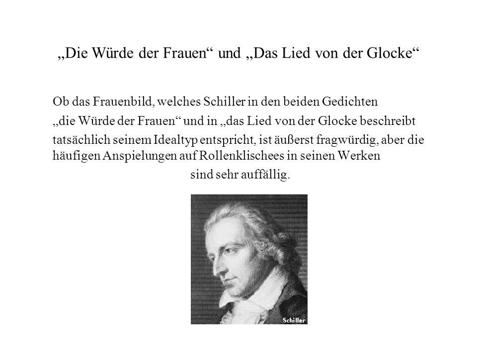 """""""Die Würde der Frauen"""" und """"Das Lied von der Glocke"""" Ob das Frauenbild, welches Schiller in den beiden Gedichten """"die Würde der Frauen"""" und in """"das Li"""