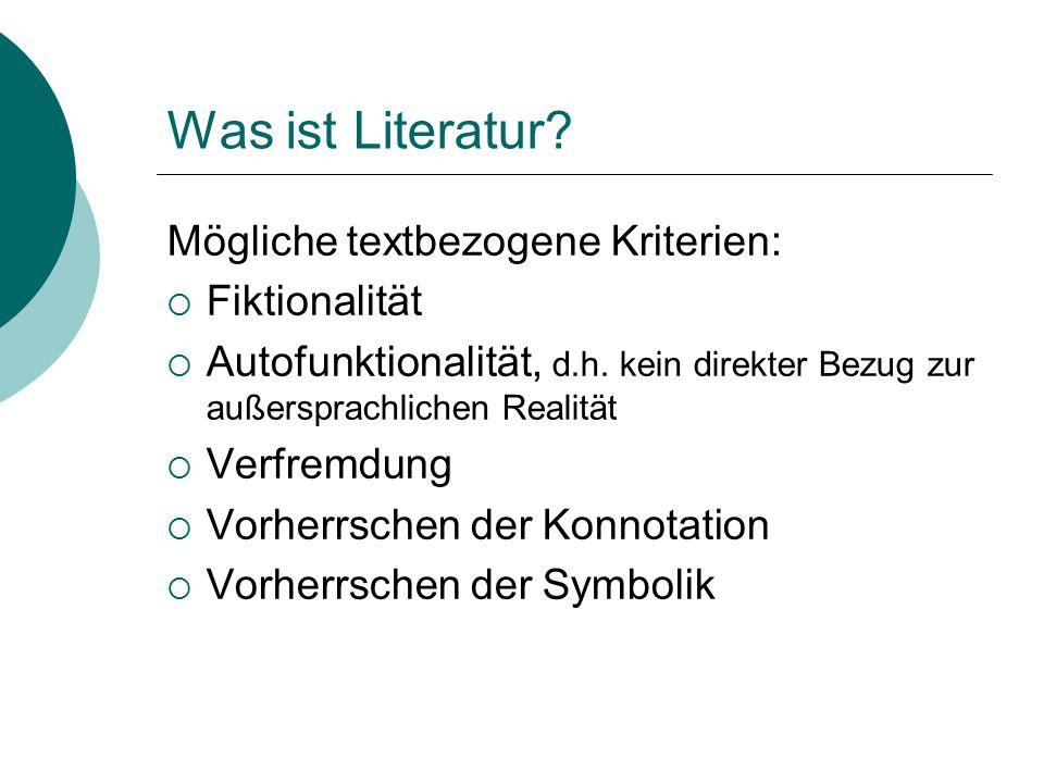 """""""Literarisch ist nicht der Text, sondern der Gebrauch, den man von ihm macht. (Abraham 1998)"""
