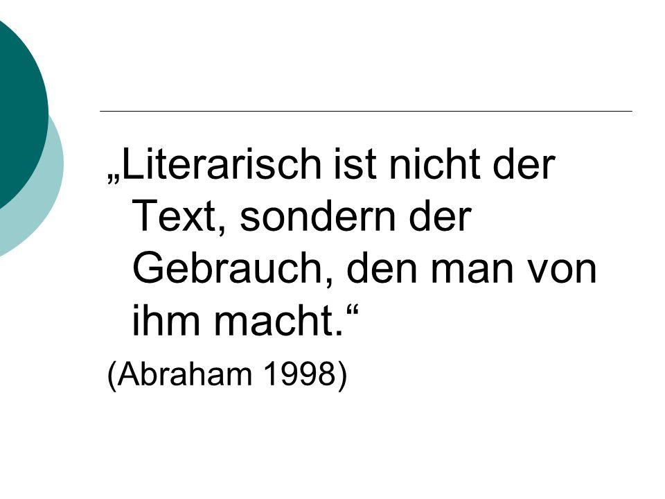 """Elf Aspekte literarischen Lernens Lesen Sie den Aufsatz """"Literarisches Lernen von Kaspar H."""