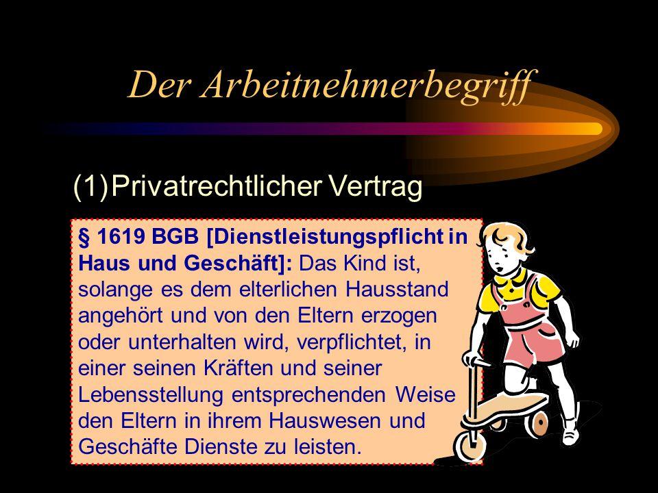 """Kodifikation des Arbeitsrechts 1900: BGB §§ 611-630 1923, 1938, 1977: Reformentwürfe 1990: Einigungsvertrag 1992: Entwurf eines ArbVertrG durch den """"A"""