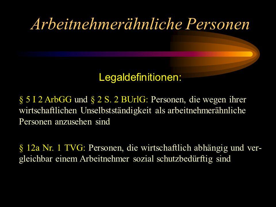 Leitende Angestellte Hauptkriterien nach § 5 III 1 BetrVG: Berechtigung zur selbstständigen Einstellung und Entlassung von Arbeitnehmern Generalvollma