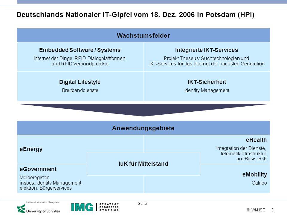 24 © IWI-HSG Seite Kontakt Hubert Österle The Information Management Group (IMG AG) Fuerstenlandstrasse 101 CH-9014 St.