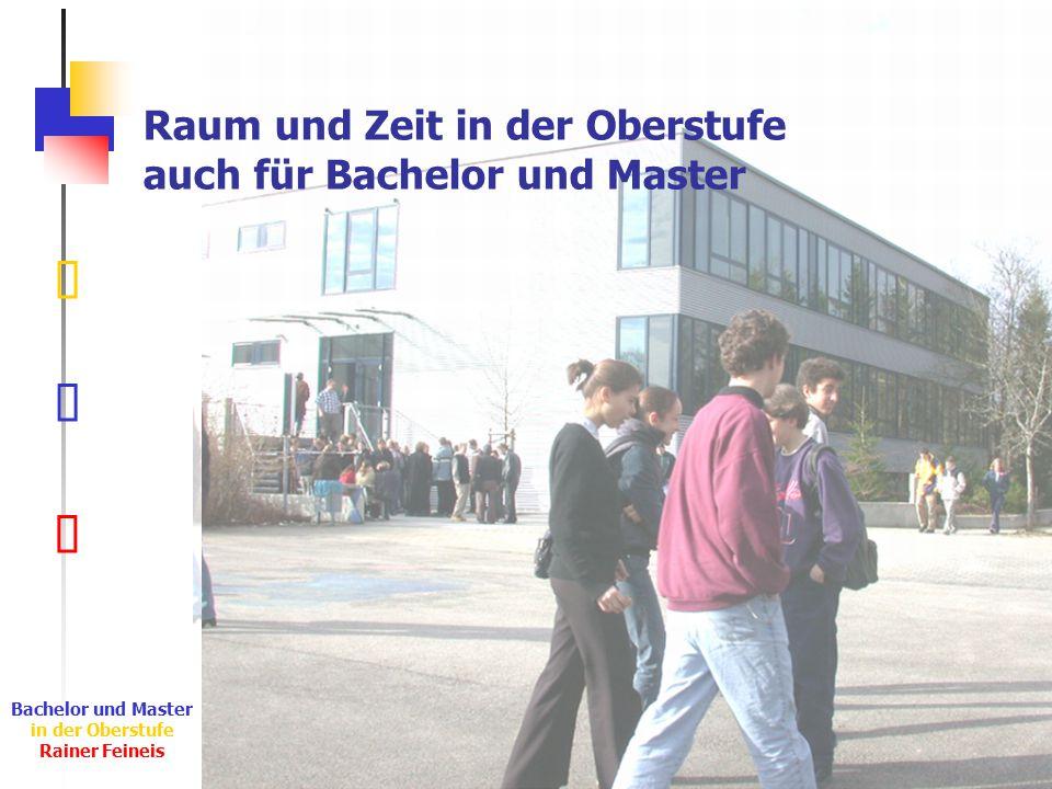 Ê Ë Ì Bachelor und Master in der Oberstufe Rainer Feineis Raum und Zeit in der Oberstufe auch für Bachelor und Master
