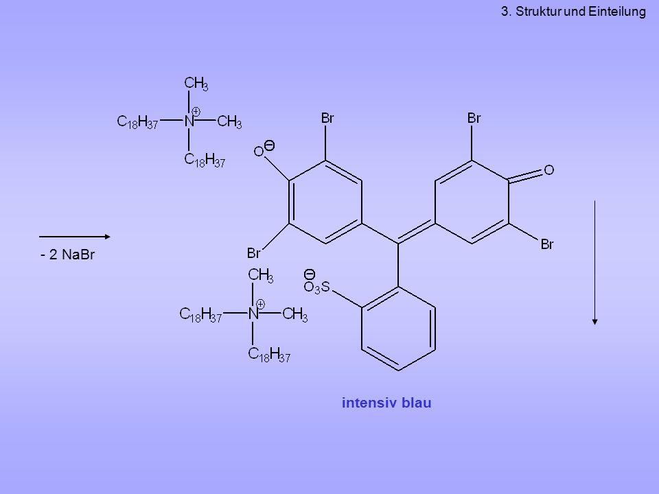 - 2 NaBr 3. Struktur und Einteilung intensiv blau