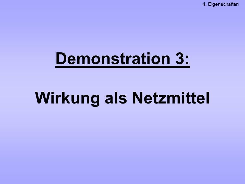 Demonstration 3: Wirkung als Netzmittel 4. Eigenschaften
