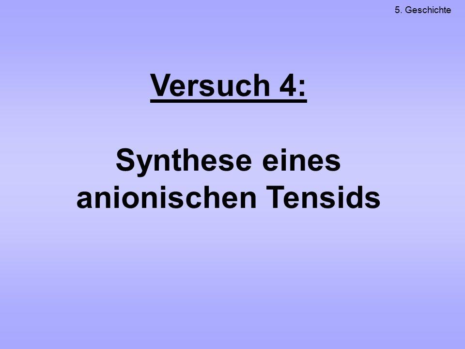Versuch 4: Synthese eines anionischen Tensids 5. Geschichte