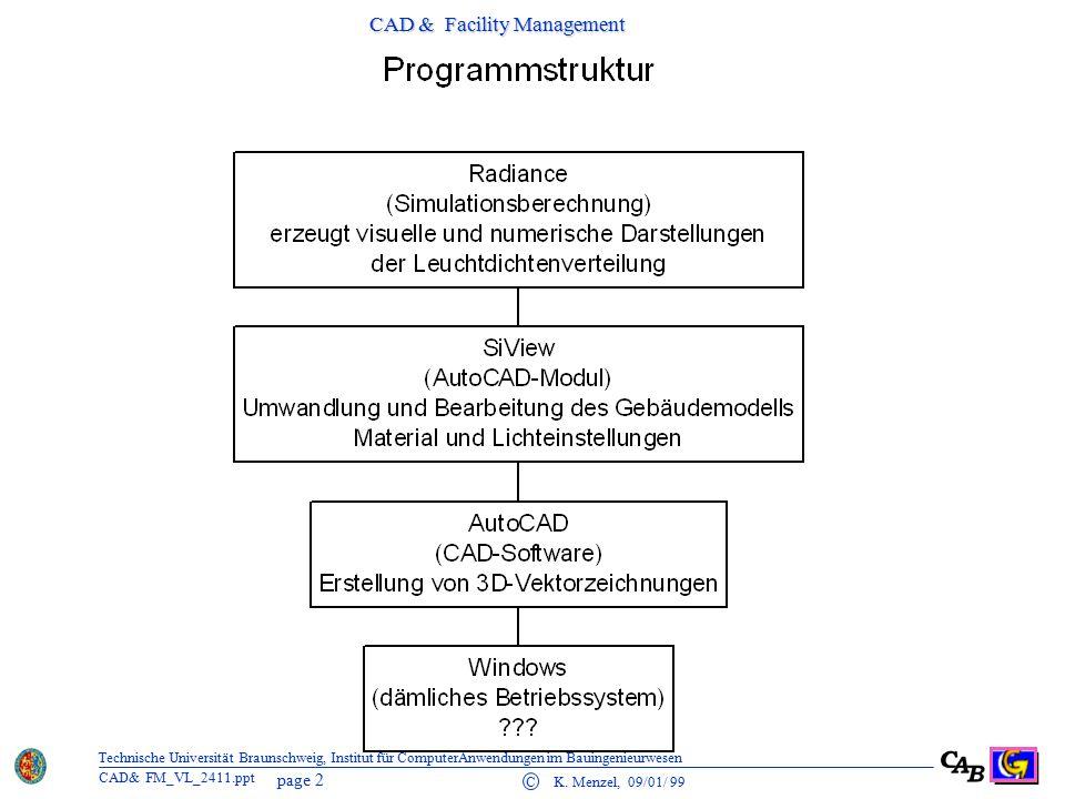 CAD & Facility Management page 3 C K.