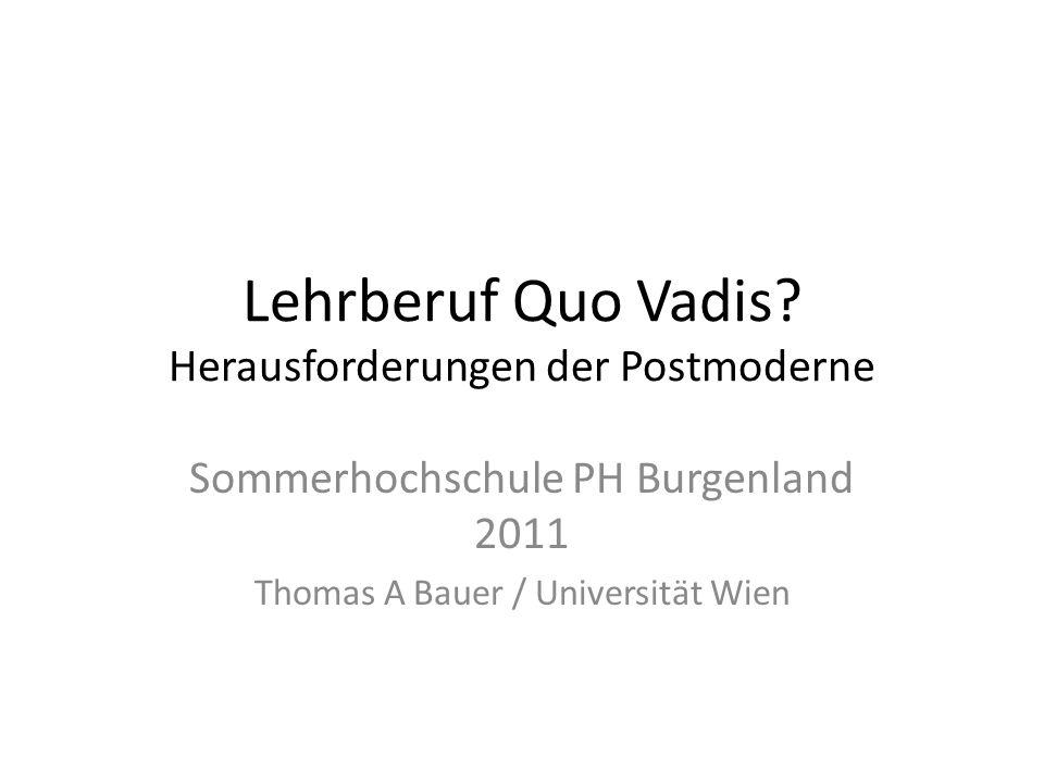 Lehrberuf Quo Vadis.
