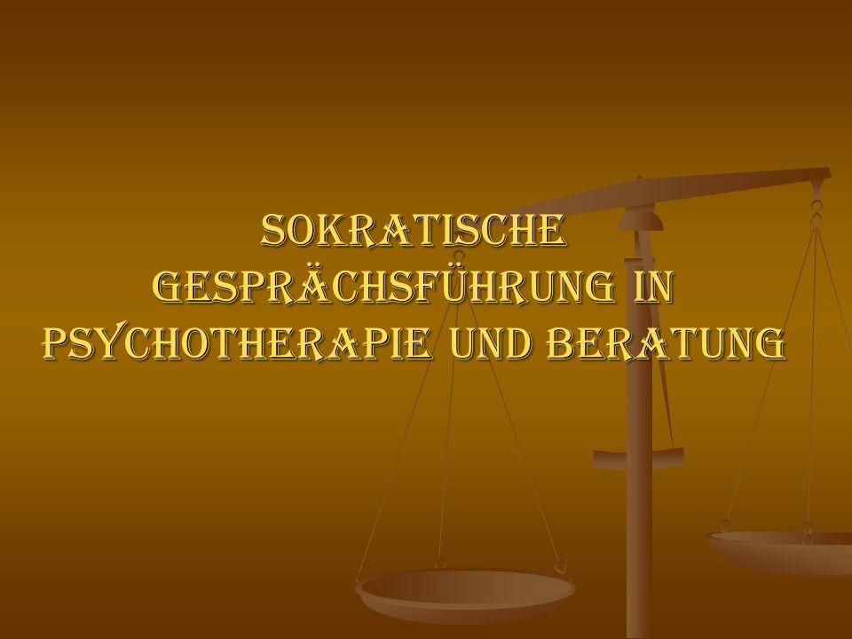 Sokratische Gesprächsführung in Psychotherapie und Beratung