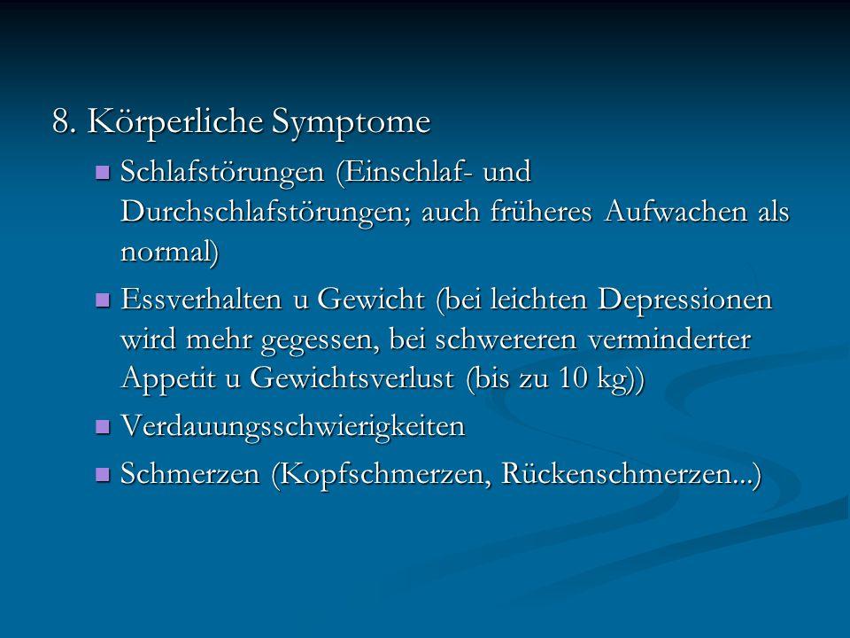 Hamilton Depressions-Skala (HAMD): klassisches Fremdbeurteilungsinstrument für die Schwere depressiver Symptome klassisches Fremdbeurteilungsinstrument für die Schwere depressiver Symptome Einschätzung der Depressionstiefe aufgrund von 21 depressionstypischen Symptome auf einer vierstufigen Skala Einschätzung der Depressionstiefe aufgrund von 21 depressionstypischen Symptome auf einer vierstufigen Skala Wert von 17 Punkten gilt als auffällig Wert von 17 Punkten gilt als auffällig Inventar depressiver Symptome: liegt als Selbst- und Fremdbeurteilungsinstrument vor liegt als Selbst- und Fremdbeurteilungsinstrument vor umfasst 28 Items (in deutschsprachiger Version) umfasst 28 Items (in deutschsprachiger Version) Wert von 20 erscheint als Hinweis auf Möglichkeit des Vorliegens einer Depression Wert von 20 erscheint als Hinweis auf Möglichkeit des Vorliegens einer Depression