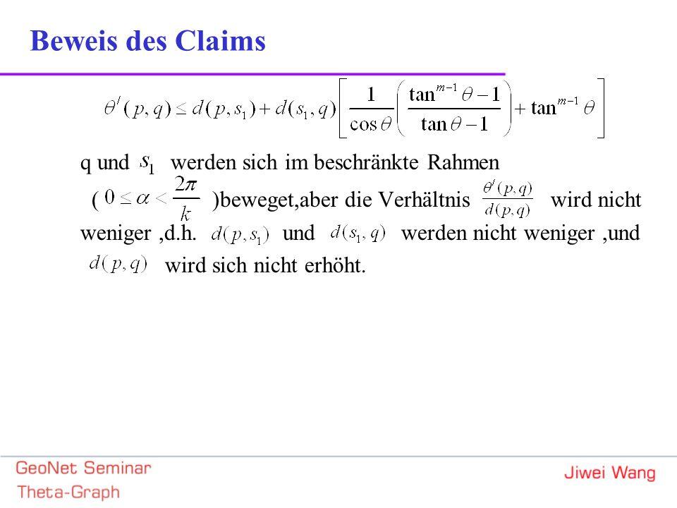 q und werden sich im beschränkte Rahmen ( )beweget,aber die Verhältnis wird nicht weniger,d.h.